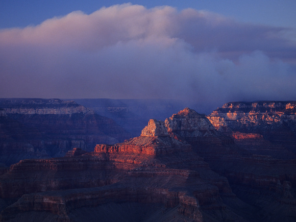 Thermal Lift Over Bright Angel Canyon, Grand Canyon National Par